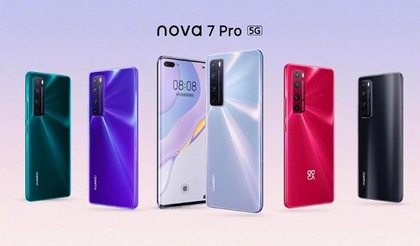 Huawei nova 7 Pro In Colors.