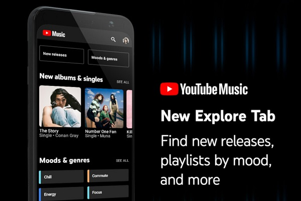 YouTube Music gets new Explore tab