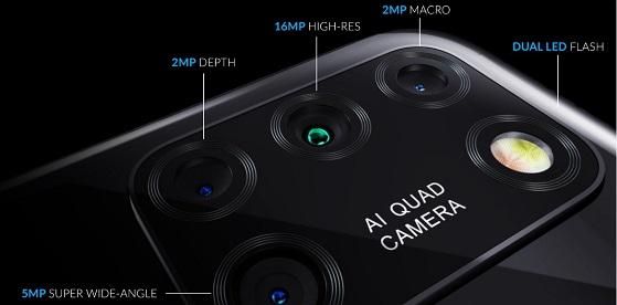 Alcatel 3x (2020) Rear camera details