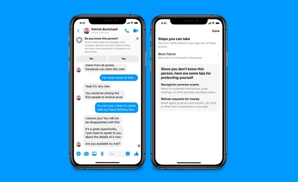 Facebook Messenger Alerts You Of Scammers