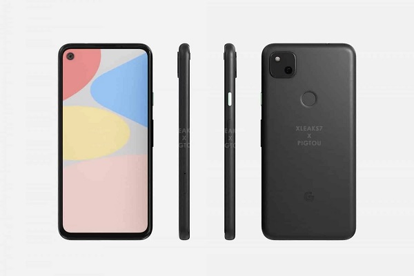 Google Pixel 4a CAD Render