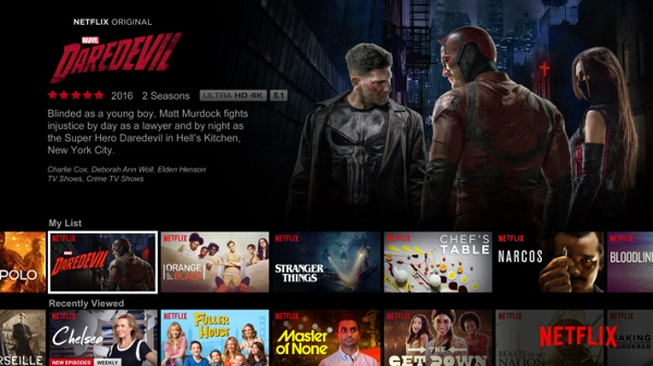 Netflix on web version
