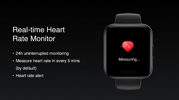 Realme Watch Heart rate monitoring