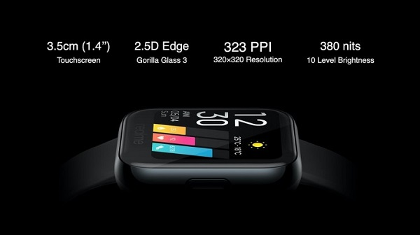 Realme Watch display specs