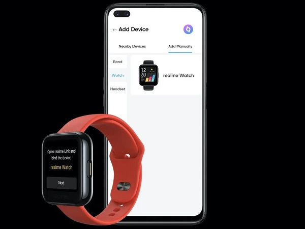 Realme Watch with phone
