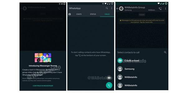 WhatsApp Beta Gets Messenger Rooms.