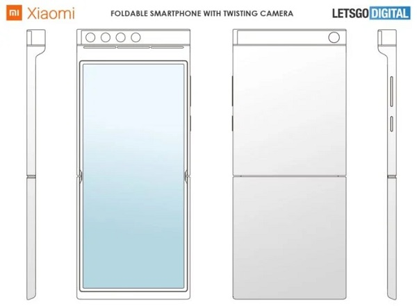 Xiaomi Patent Reveals A Foldable Phone With Rotating Camera