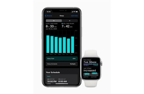 Apple watchOS 7 sleep tracking