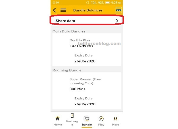 How to Share Your MTN Data Using MyMTN App