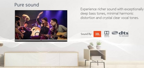 Nokia 43-inch Android TV sound spcs