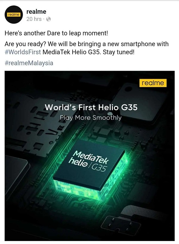 Realme C11 To Be Launched With Helio G35 SoC