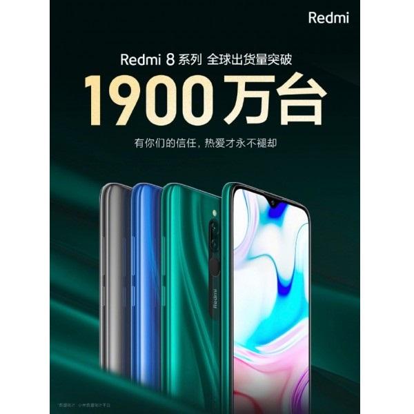 Redmi 8 shipped 19 million