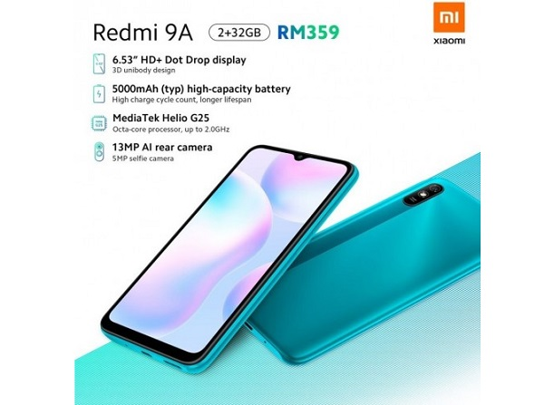 Redmi 9A launched