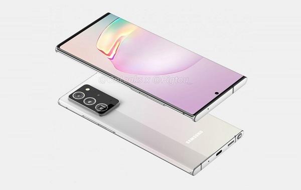 Samsung Galaxy Note20+ renders.