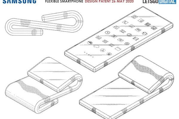 Samsung Patents A Dual folding smartphone design