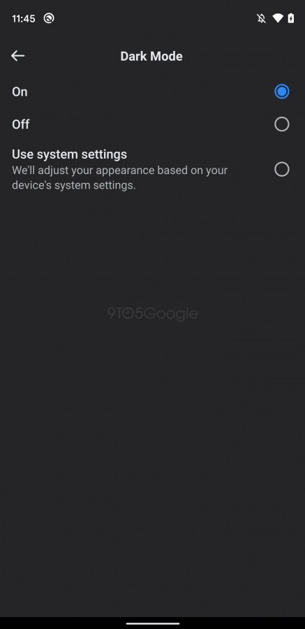 Screenshots from pre-release Facebook Dark mode