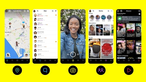 Snapchat new features - Action Bar