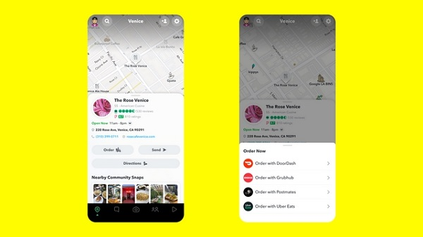 Snapchat new features - Places