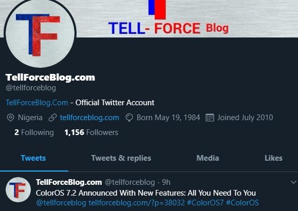 TellForceBlog Twitter Account