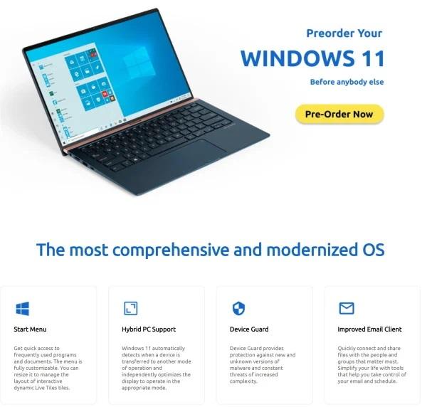 Windows 11 leaks