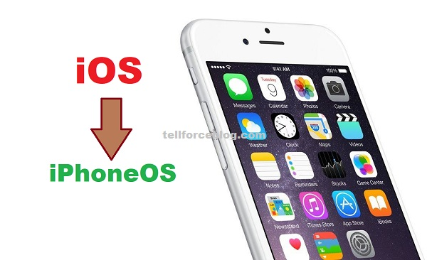 iOS to iPhoneOS