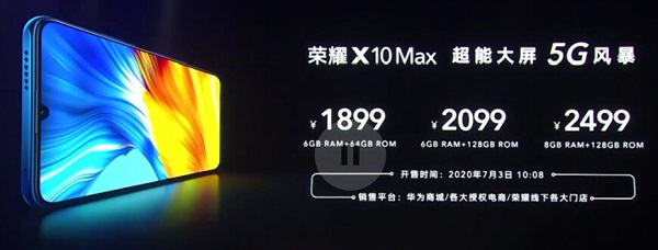 Honor X10 Max Price