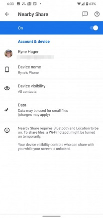 How Google Nearby Share works