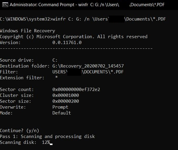Recover Deleted Files Using Windows Recovery Tool