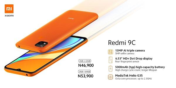 Redmi 9C price in Nigeria