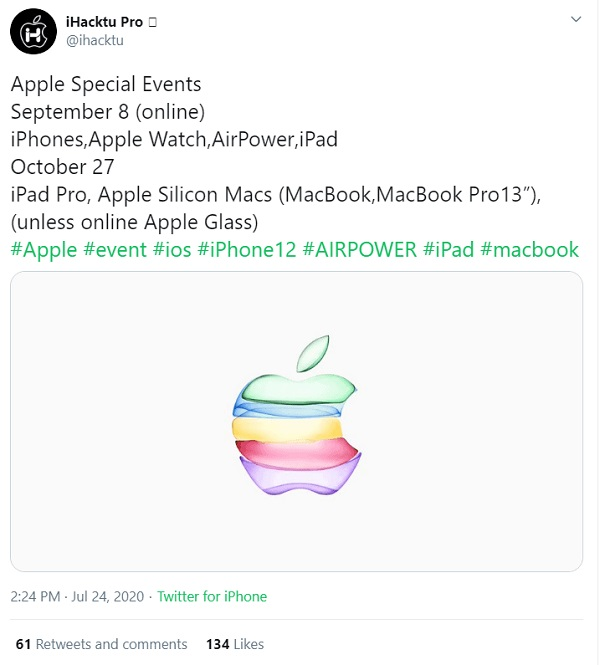 Rumored iPhone 12 launch date