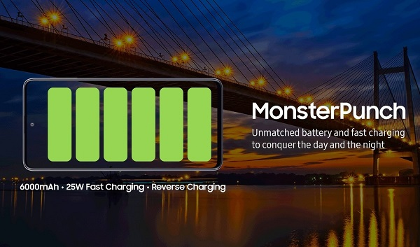 Samsung Galaxy M31s charging feature