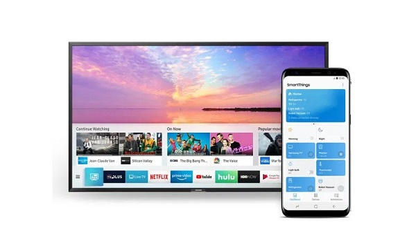 Samsung Smart Tv and Samsung Smartphone