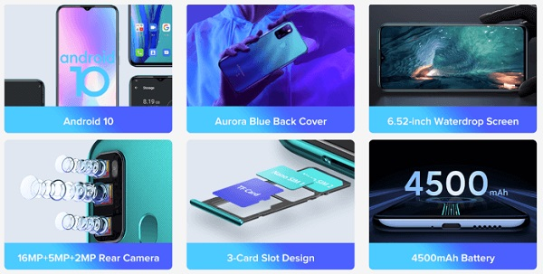 Ulefone Note 9P specs