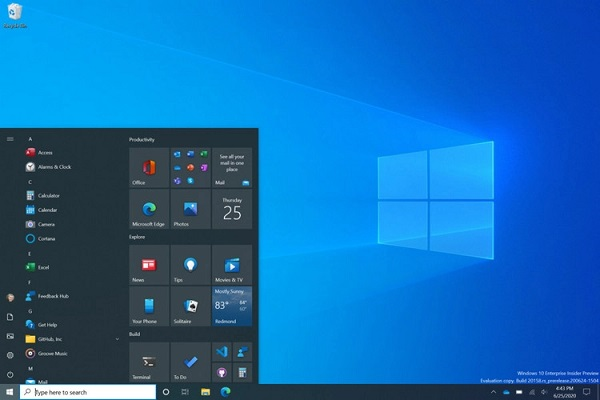 Windows 10 Insider Preview Build 20161 With Redesigned Start Menu