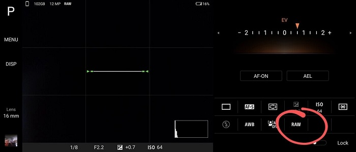 Xperia 1 II screenshots after the update