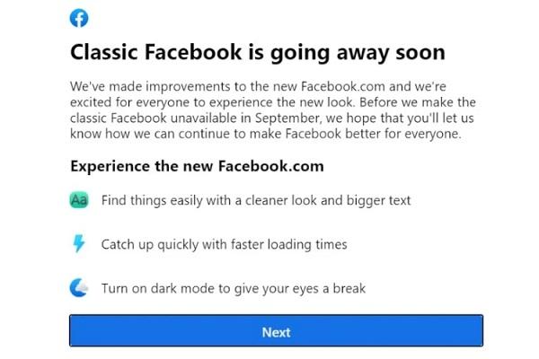 Facebook Classic UI