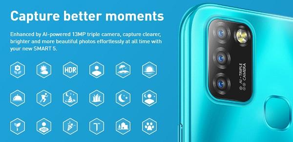 Infinix Smart 5 rear camera
