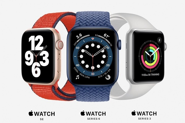 Apple Watch SE, Series 6 and Series 3