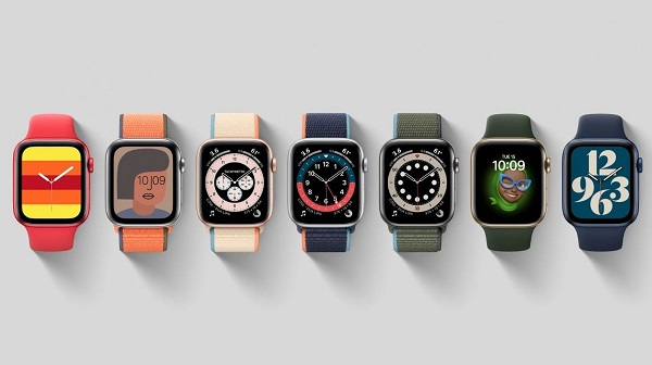Apple Watch Series 6 - new watch faces, including Stripes