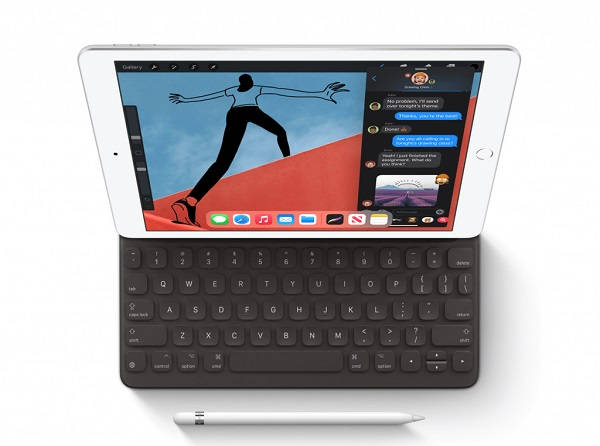 Apple iPad 10.2 (2020) with keyboard and Pen