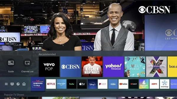 Channels on Samsung TV Plus Streaming Service