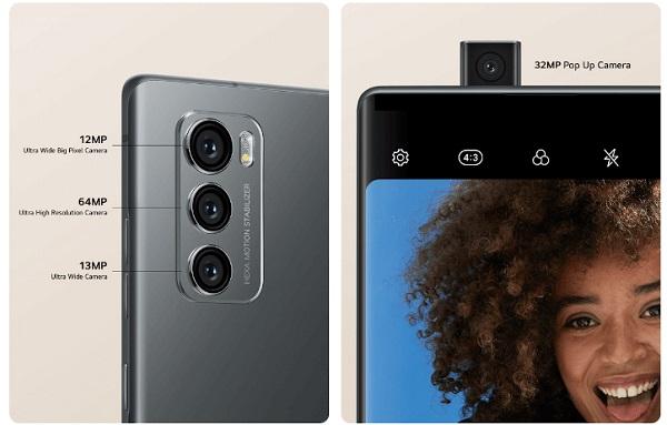 LG Wing cameras