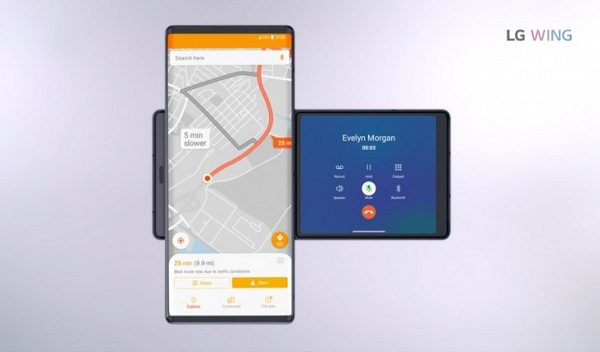 LG Wing navigation system