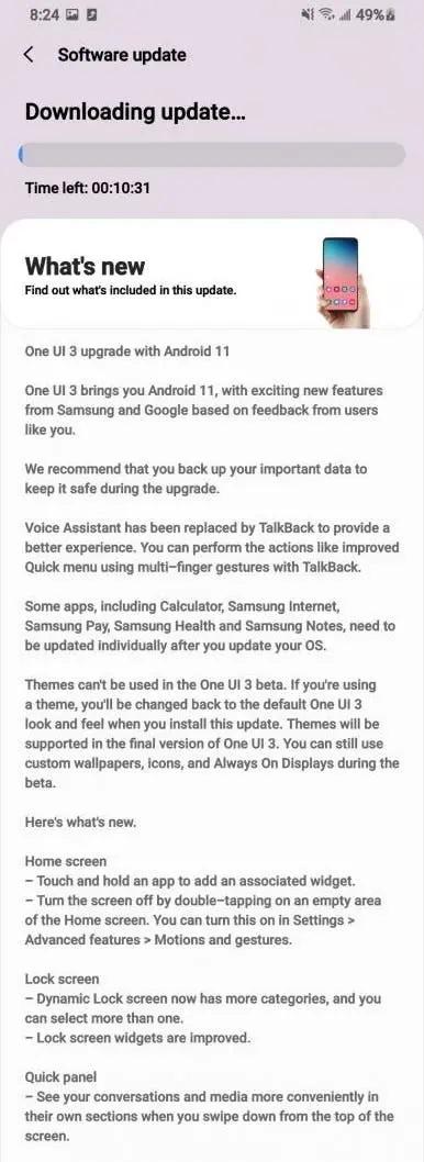 One Ui 3.0 Beta Changelog