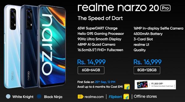 Realme Narzo 20 Pro Price