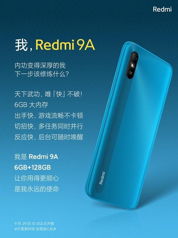 Redmi 9A with 6GB RAM
