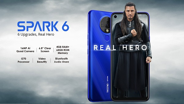 Tecno Spark 6 launched