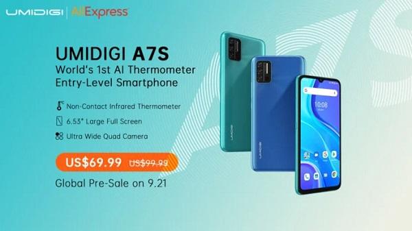 Umidigi A7S price
