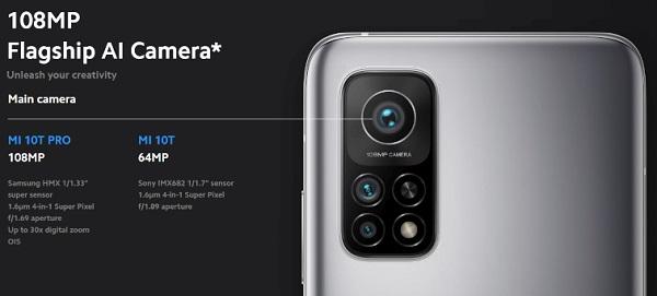 Xiaomi Mi 10T Pro Rear Camera details