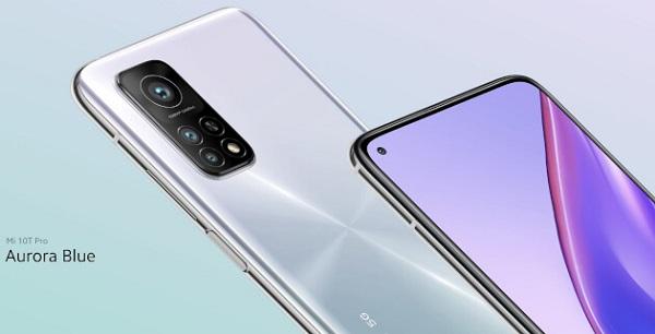 Xiaomi Mi 10T Pro in Aurora Blue